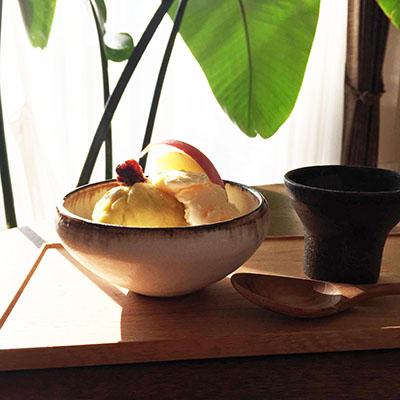 サツマイモと梨とりんご