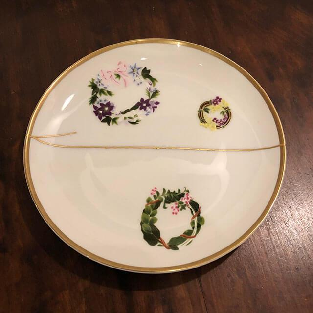 [金継ぎ事例] 洋皿